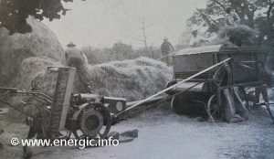 Energic Motoculteur C7 B4L With adapted thresher at harvest time www.energic.info