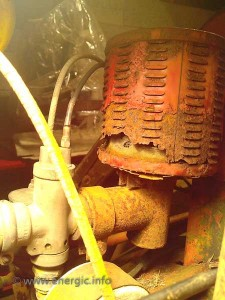 Energic motoculteur Air filter water damage www.energic.info
