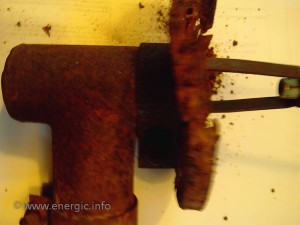 Energic motoculteur Air filter base water damage www.energic.info
