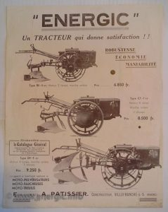 Early Energic poster B5, C7, D9 ranges www.energic.info
