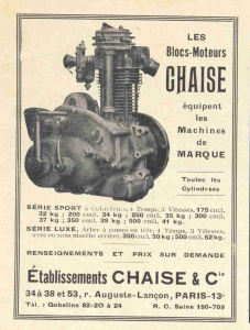 Chaise engines/motors poster 1928 www.energic.info