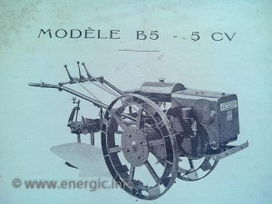 Energic motoculteur B5 5cv www.energic.info