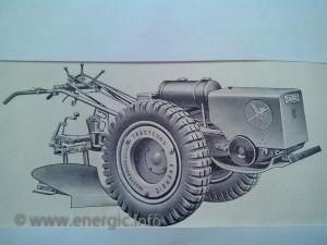 Energic motoculteur C7 mounedthe metal tyres www.energic.info