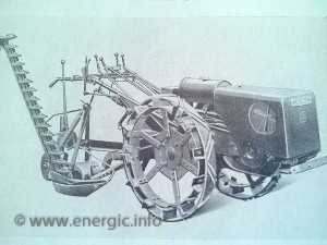 Energic motoculteur C7 B4L with treaded metal wheel bands www.energic.info