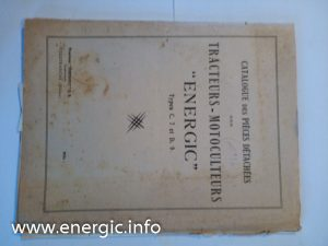 Early Energic parts booklet C7, D9 ranges www.energic.info