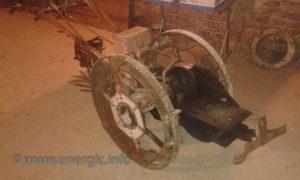 Energic motoculteur B5 illustarting curve base chassis to accomodate engine