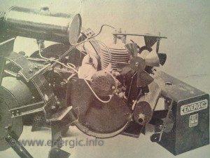 Energic motoculteur B5 illustarting curve base chassis to accomodate engine www.energic.info