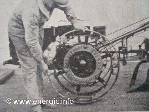 Energic motoculteur C7 mounting the metal wheel bands www.energic.info