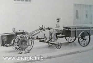 Energic motoculteur C7 high air filter pulling trailer with sulky www.energic.info