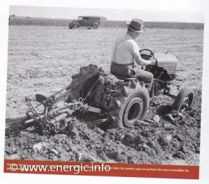 Early Energic tracteur 509 prototype trials, driven by Mr A Patissier www.energic.info