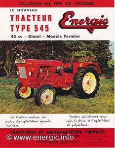 Energic 545 tracteur 45cv Perkins diesel www.energic.info