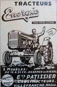 Energic tracteur range 1959 www.energic.info