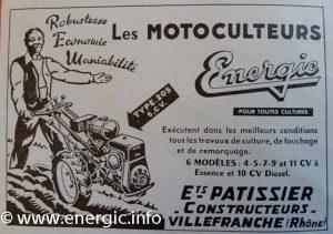 Energic series 200 motoculteur Motor Bernard brochure www.energic.info