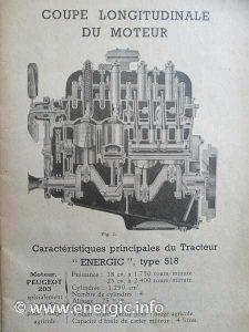Energic 518 tracteur 22cv petrol/essence moteur/engine www.energic.info