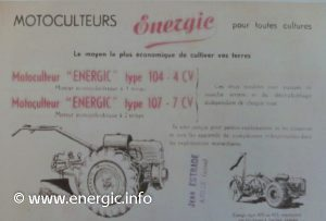 Energic motoculteur 104 4cv www.energic.info