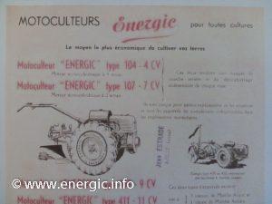 Energic 207 motoculteur 7cv used in 107 www.energic.info
