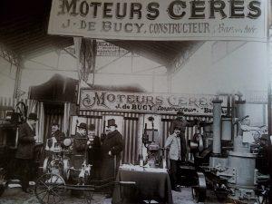 Cérès moteurs display stand at a Paris fair in 1911 www.energic.info