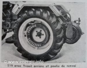 Energic tracteur 519 TMD tracteur with winch/treuil www.energic.info
