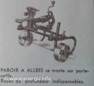 Energic motoculteur attachments - Parior a allees - cutter www.energic.info