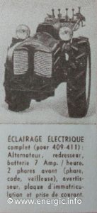 Energic 412 motoculteur supplementary equipment at extra cost www.energic.info