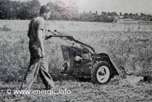 Energic 220 motoculteur transformed in to a grass cutter/faucheuse www.energic.info