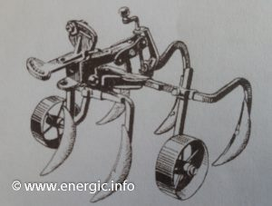 Energic Tracteur 500 series 5 tine cultivateur on a chassis for cultures in line www.energic.info