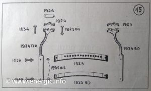 Energic technical drawings 409 motoculteur 1946 www.energic.info