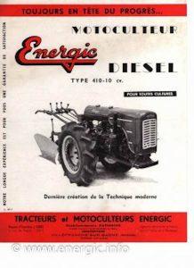 Energic 410 motoculteur diesel www.energic.info