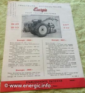 Energic 204, 205 & 207 documentation www.energic.info