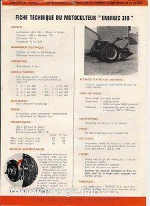 Energic 318 Motoculteur diesel brochure www.energic.info