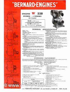 Energic motoculteur typical specification sheet for Bernard moteurs www.energic.info