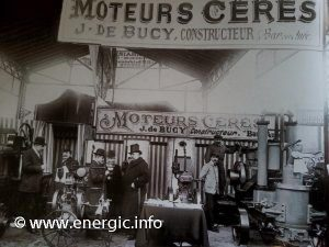 Cérès moteurs display stand at a Paris fair in 1911 www.energic.info