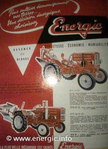 Energic tracteur 500 series range 1955 www.energic.info