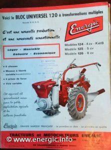 Energic motoculteur 124 Kohler moteur www.energic.info
