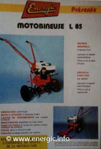 Energic Motobineuse Type L 85 www.energic.info