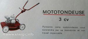 Energic Motobineuse transformed into a mototoneuse Type L 77 www.energic.info