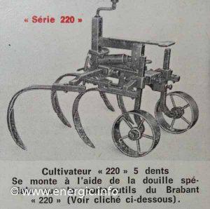 Energic motoculteur 220 series attachments - cultivateur 5 dents www.energic.info