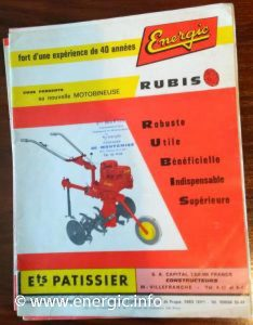 Energic motobineuse Rubis www.energic.info