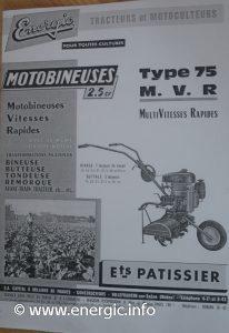 Energic Motobineuse Type 75 MVR www.energic.info