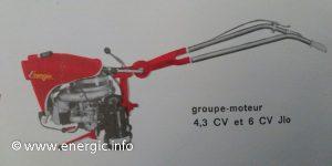 Energic Motofaucheuse ILO 6cv moteur www.energic.info