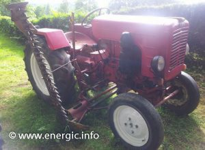 Energic tracteur 511 petrol with hay/grass cutter www.energic.info