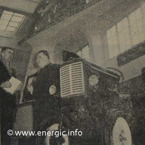 Energic agricole show 1958 with Mr A Patissier presenting on the stand www.energic.info