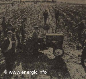 Energic series 500 tracteur in demonstration work 1961 www.energic.info