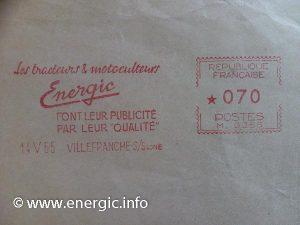 Energic postal marks/Marquages 14/5/65 www.energic.info