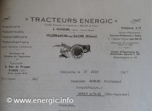 Energic letter head old style 17/06/1942 www.energic.info