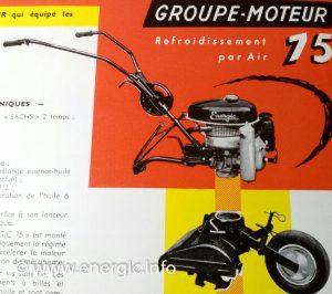 Energic Motobineuse Type 75 groupe moteur www.energic.info
