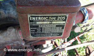 Energicmotoculteur 205 moteur plaque www.energic.info