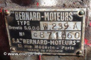 Energic moteur Bernard plaque www.energic.info