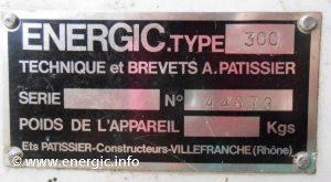 Energic motoculteur 300 moteur plaque www.energic.info