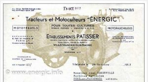 Energic letter head 28/10/1952 www.energic.info